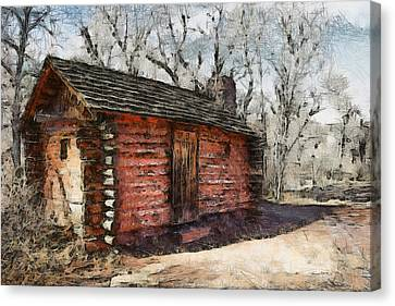 The Cabin Canvas Print by Ernie Echols
