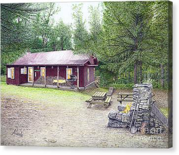 The Cabin In The Woods Canvas Print by Albert Puskaric
