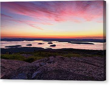 The Cadillac Mountain Sunrise Club Canvas Print by Jeff Sinon
