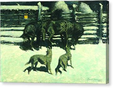 The Call For Help Canvas Print by Fredrick Remington