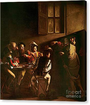 The Calling Of St Matthew Canvas Print by Michelangelo Merisi o Amerighi da Caravaggio