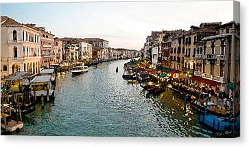 The Canal Canvas Print by Cole Black
