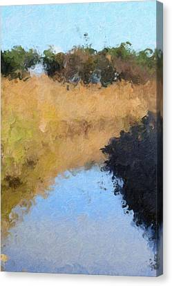 The Canal Canvas Print by Toppart Sweden