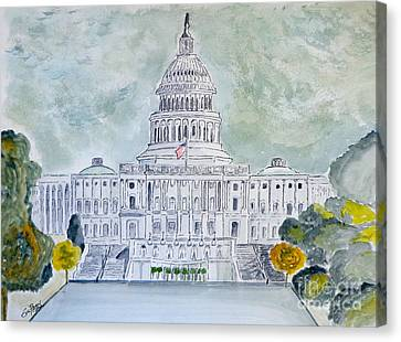 The Capitol Hill Canvas Print by Eva Ason