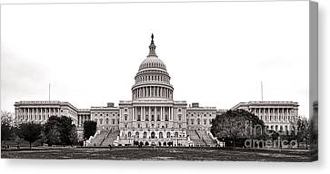 The Capitol Canvas Print by Olivier Le Queinec