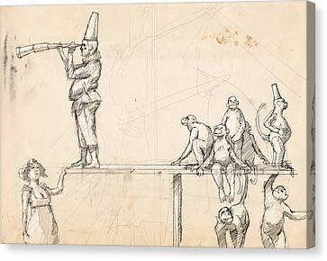 The Captain Canvas Print by H James Hoff