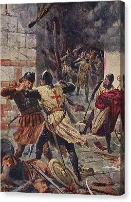 The Capture Of Constantinople Canvas Print by John Harris Valda