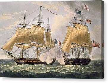 The Capture Of La Clorinde Canvas Print by Thomas Whitcombe