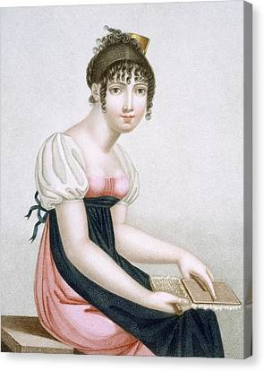 The Carder, Engraved By Augrand, C.1816 Canvas Print by Madame G. Busset-Dubruste