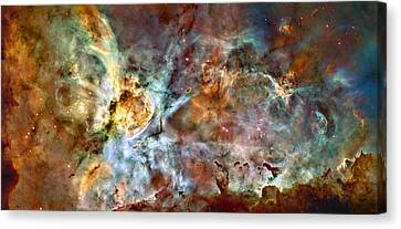 The Carina Nebula Canvas Print by Ricky Barnard