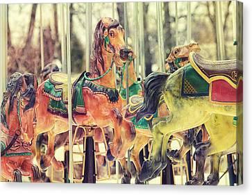 The Carousel Canvas Print by Carrie Ann Grippo-Pike
