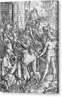The Carrying Of The Cross Canvas Print by Albrecht Durer or Duerer