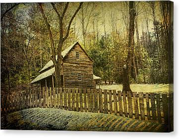 The Carter Shields Cabin In Cades Cove In The Smokey Mountains Canvas Print by Randall Nyhof