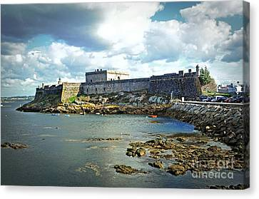 The Castle Fort On The Harbor Canvas Print by Mary Machare
