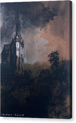 The Castle In The Moonlight  Canvas Print by Victor Hugo