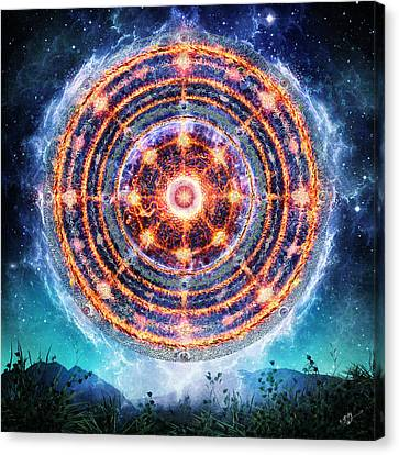 The Catalyst Fire Canvas Print by Cameron Gray