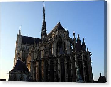 The Cathedral Basilica Of Our Lady Of Amiens Canvas Print by Aidan Moran