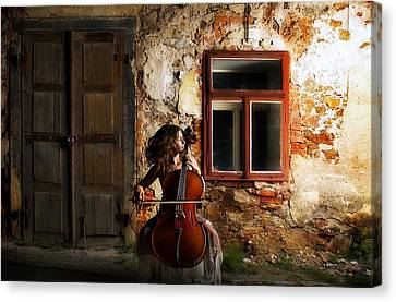 The Cellist Canvas Print by Movie Poster Prints