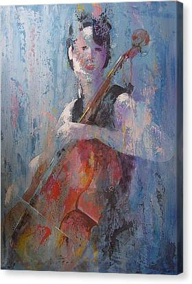 The Cello Canvas Print by John Henne