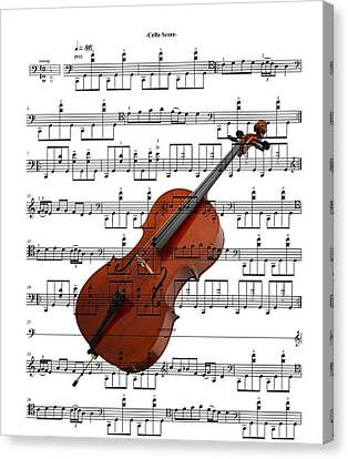 The Cello Canvas Print by Ron Davidson