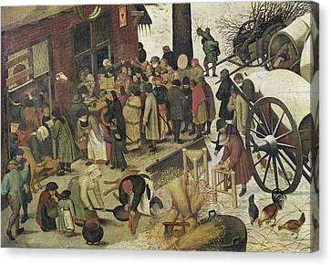 The Census At Bethlehem Canvas Print by Bruegel