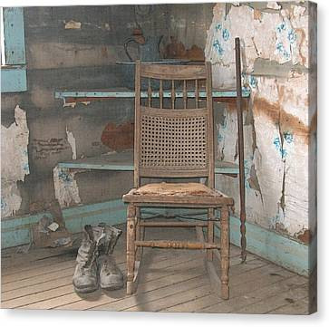 The Chair      Colored Pencil Canvas Print by Mark Eisenbeil