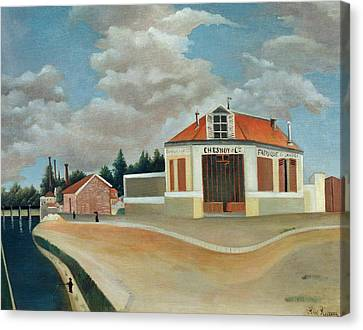 The Chair Factory At Alfortville Canvas Print by Henri Rousseau