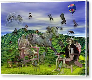The Chairs Of Oz Canvas Print by Betsy Knapp