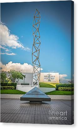 The Challenger Memorial - Bayfront Park - Miami - Hdr Style Canvas Print by Ian Monk