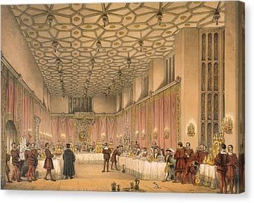 The Chamber, Hampton Court Canvas Print by Joseph Nash