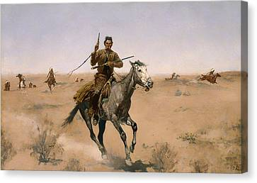 The Chase Canvas Print by Mountain Dreams