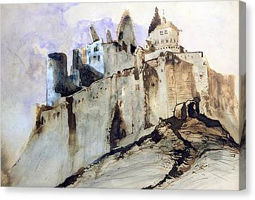 The Chateau Of Vianden Canvas Print by Victor Hugo