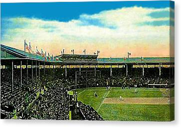 The Chicago Cubs Wrigley Field Around 1920 Canvas Print by Dwight Goss