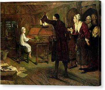 The Child Handel Discovered By His Parents 1893 Canvas Print by Margaret Isabel Dicksee