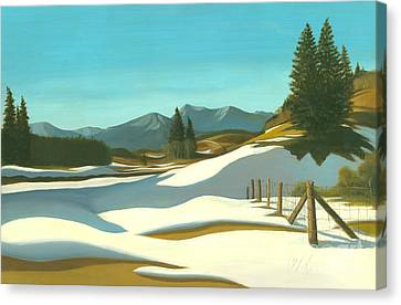 The Chinook Wind Blows Canvas Print by Michael Swanson