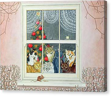 The Christmas Mouse Canvas Print by Ditz