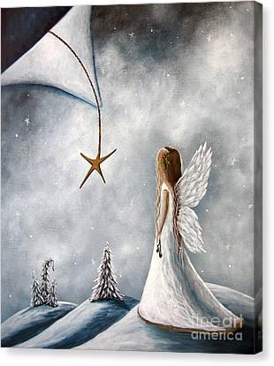 The Christmas Star Original Artwork Canvas Print by Shawna Erback