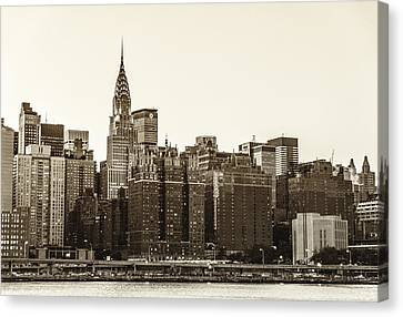 The Chrysler Building And New York City Skyline Canvas Print by Vivienne Gucwa