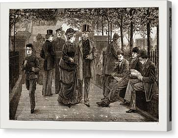 The Churchyard, St Canvas Print by Litz Collection