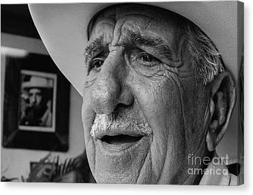 The Cigar Maker Canvas Print by Rene Triay Photography