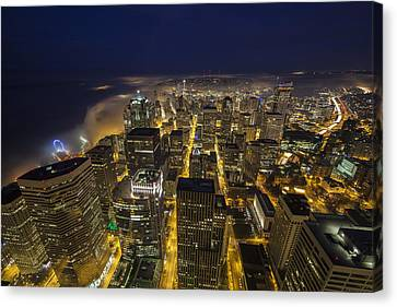 The City Awakens Canvas Print by Mike Reid