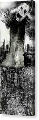 The City Beneath The City  Canvas Print by Ruth Clotworthy