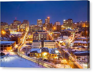 The City Electric - Portland Maine Canvas Print by Benjamin Williamson