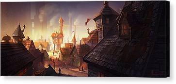 The City Canvas Print by Kristina Vardazaryan