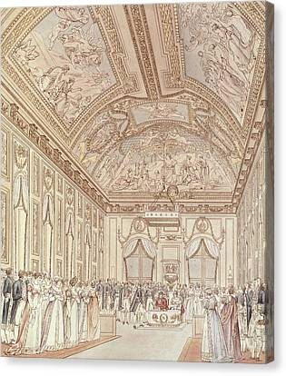 The Civil Ceremony Of The Marriage Of Napoleon Bonaparte 1769-1821 And Marie-louise 1791-1847 Canvas Print by C Percier