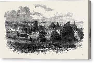 The Civil War In America View Of Yorktown Virginia Canvas Print by English School