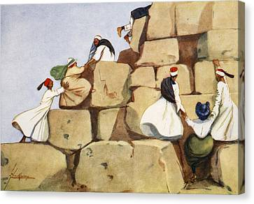 The Climbers, From The Light Side Canvas Print by Lance Thackeray