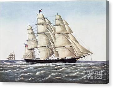 The Clipper Ship Flying Cloud Canvas Print by Anonymous