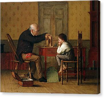 The Clock Doctor, 1871 Canvas Print by Enoch Wood Perry