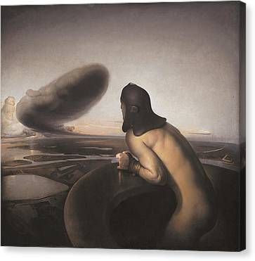 The Cloud Canvas Print by Odd Nerdrum